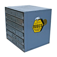 Industrial Robco Parts Cabinet W/ Lift Out Drawers C1965
