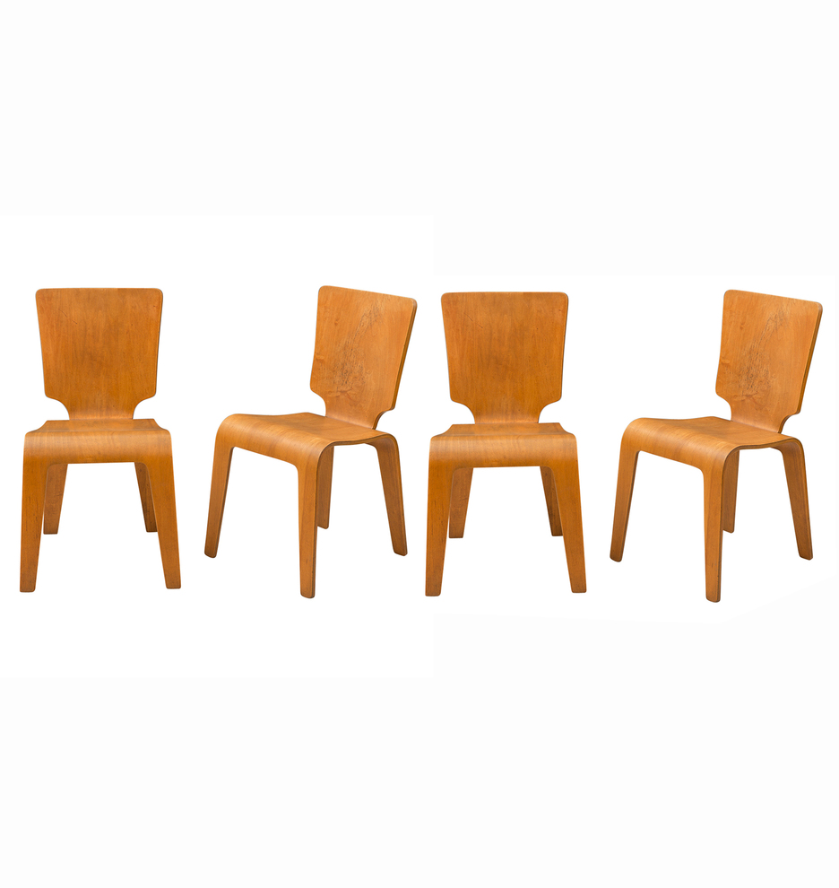 ... Molded Plywood Dining Chairs. F7162a F7162