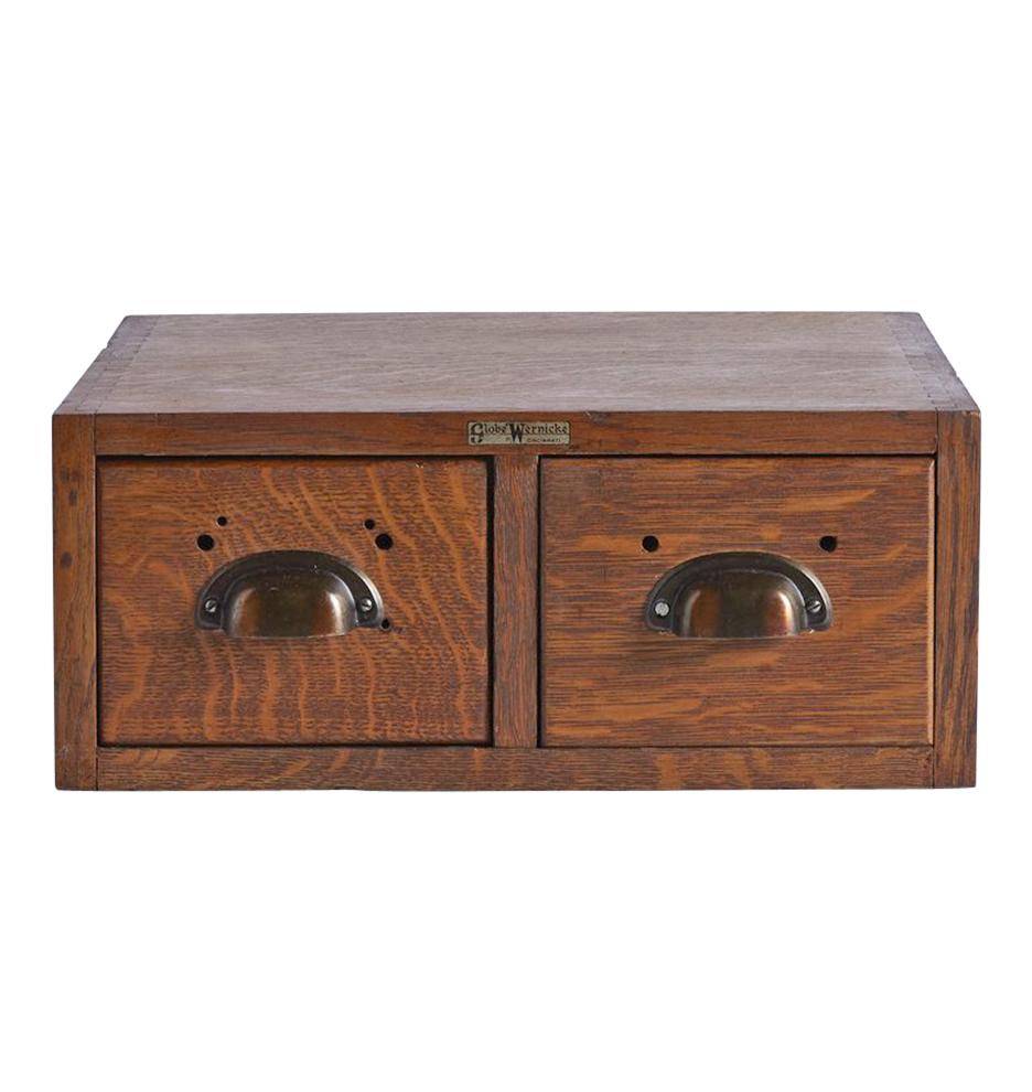 Two-Drawer Oak Filing Cabinet by Globe Wernicke   Rejuvenation