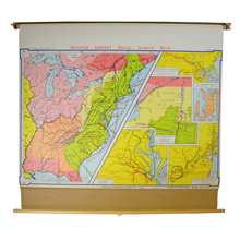 Denoyer-Geppert Classroom Map of the Revolutionary War c1960s
