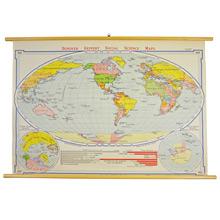 Mid-Century Denoyer-Geppert World Map c1960s