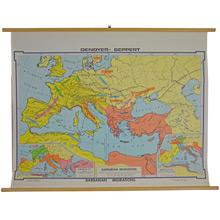 Mid-Century Denoyer-Geppert Barbarian Migrations Map c1960s