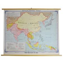 Mid-Century Denoyer-Geppert Far East Map c1965