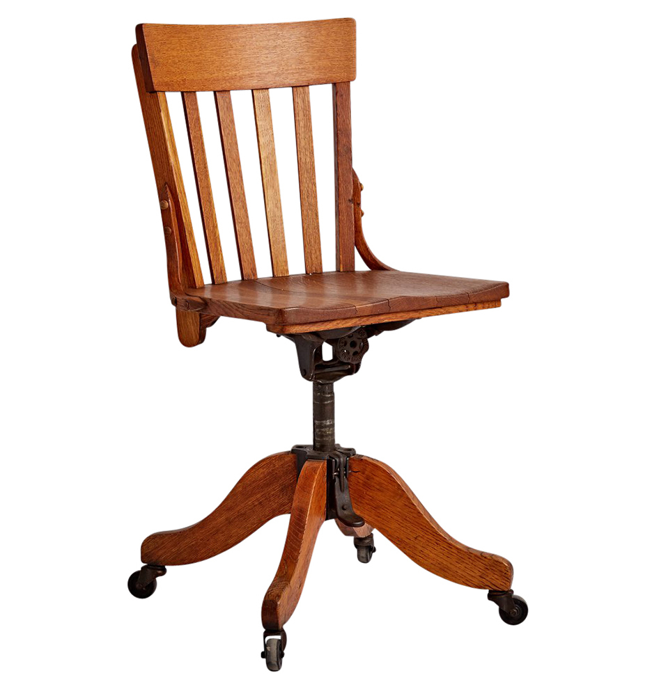 Wooden office chairs with casters -  Classic Oak Office Chair On Casters F7506 Wk35 170929 02 F7506