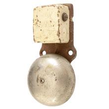 Small Cast Iron 10v Door Ringer w/Nickel Bell, c1925