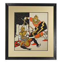 Original Illustration of Dueling Knights c1935