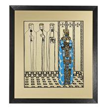 Original Illustration of Queen and Ladies c1935