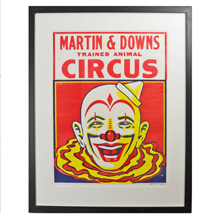 NOS Martin and Downs Clown Poster c1960s