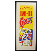 NOS Hanneford Circus Poster c1960s