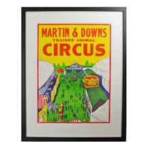 NOS Martin and Downs Circus Poster c1960s