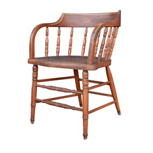 Turned Oak Tavern Chair c1910s