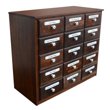 Enormous 15-Drawer Apothecary Cabinet c1910