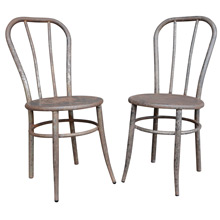 Pair of Raw Steel William V. Willis Company Chairs c1910