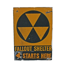 Cold War Era Fall Out Shelter Sign C1961