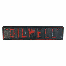 Stamped Steel Oilwell Supply Company Sign C1920s