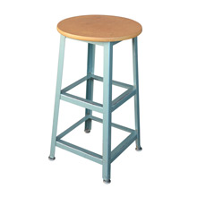 Retro Classroom Stool w/ Mint Green Base c1955