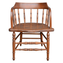 Barrel-Back Oak Tavern Chair c1910s