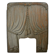 Hand Carved Curtain Panel from Funeral Hearse c1920s