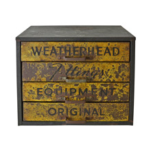 Vintage Industrial Weatherhead Parts Cabinet C1945