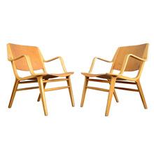 Pair of Stunning Fritz Hansen Ax Armchairs c1950s