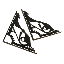 Enormous 18.5 in. Cast Iron Victorian Eastlake Brackets C1885