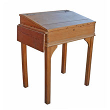 Simple Pine Pay Master's Desk c1920