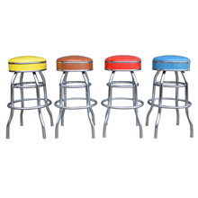 Set of 4 Multi-Colored Stools c1960s