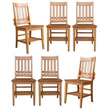 Set of 6 Heywood Wakefield Library Chairs c1930s