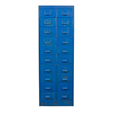 Blue-Painted Good Form Filing Cabinet c1935