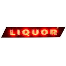 Neon Liquor Sign w/ Porcelain Faceplate c1930s