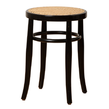 Hoffman Bentwood Caned Stool by Thonet c1965