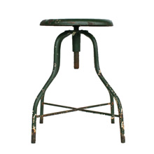 Industrial Green Painted Operating Room Stool C1920s