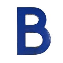 Blue Enamel Sign Letter B c1950