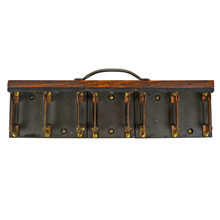 5-Bar Slate and Copper Knife Switch Plate c1930