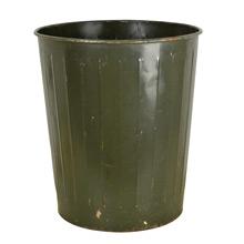 Dark Green Industrial Waste Paper Basket by Witt c1940s