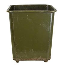 Olive Green Industrial Waste Paper Basket c1940s