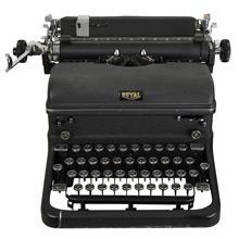 Royal Typewriter w/ Original Manual c1940s