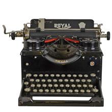 Vintage Royal Typewriter w/ Beveled Glass c1910s