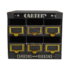 Carter's Typewriter Carbons and Ribbons Display Cabinet c1930
