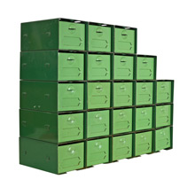 Mint Green 22 Drawer Industrial Parts Cabinet c1940s