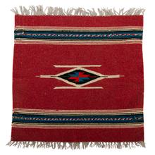 Small Souvenir Navajo Mat w/ Cream Accents c1945