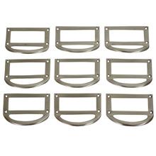 Set of 9 Cast Aluminum Label Holders c1950