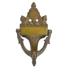 Large Brass Neo-Grec Door Knocker c1910
