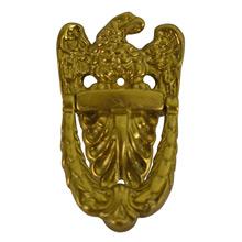 Petite Polished Brass Eagle Door Knocker c1920