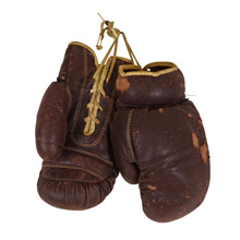 Pair of Worn Leather Boxing Gloves C1930s