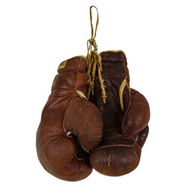 Pair of Large Leather Everlast Boxing Gloves c1930