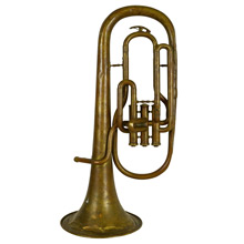 Well-Worn Brass Alto Horn by H. Campo c1930