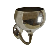 Nickel-Plated Nouveau Cup Holder c1915