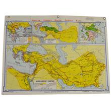 Mid-Century Denoyer-Geppert Map Book of Alexanders Empire c1957