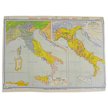 Mid-Century Denoyer-Geppert Map Book of Italy c1960s
